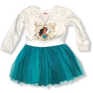 DISNEY Elena Of Avalor Long Sleeve Tutu Dress Sz S